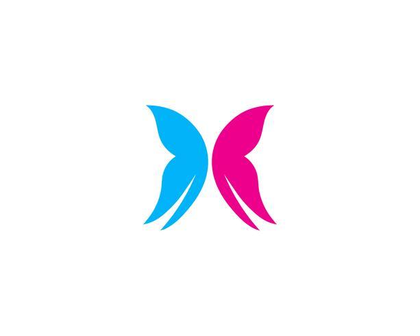 Mariposa conceptual simple colorido logo