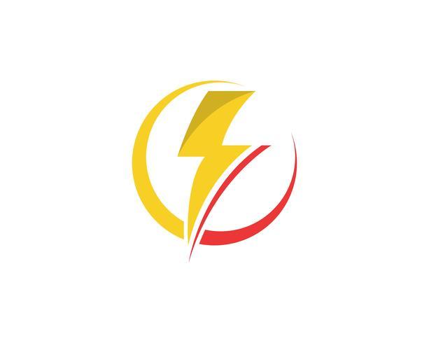Flash power thunderbolt icons vector