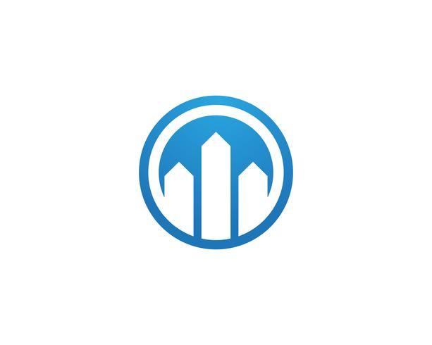 Fastighets- och konstruktion Logo design