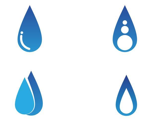 Aplicación de iconos de logotipo y símbolos de la naturaleza del agua. vector