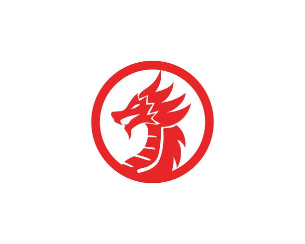 Dragon logo icono vector