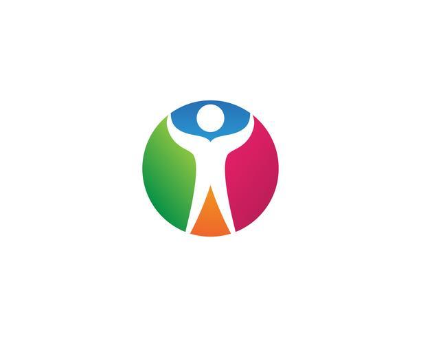 Ster logo succes mensen sjabloon vectorillustratie pictogram