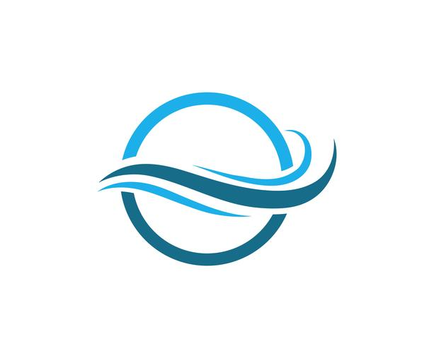 Water Wave symbool en pictogram Logo sjabloon vectoren