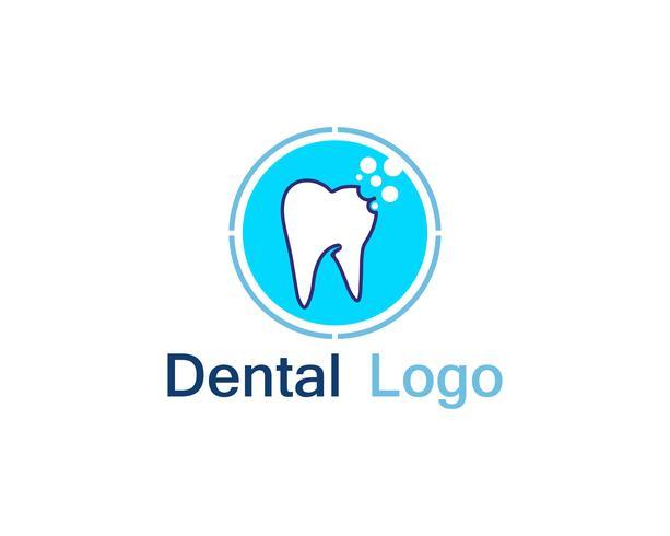 Zahnpflege-Logo und Symbol