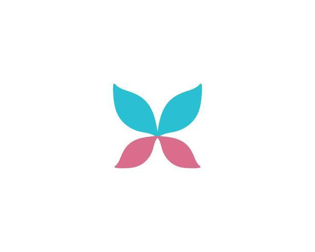Vlinder conceptueel eenvoudig kleurrijk Embleem
