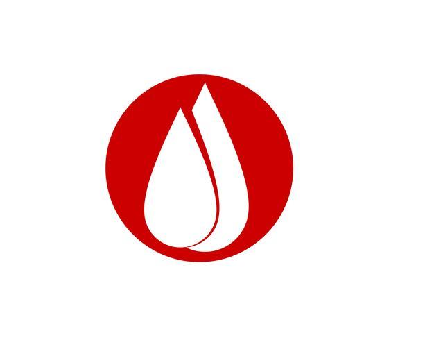 Ícones do vetor de sangue