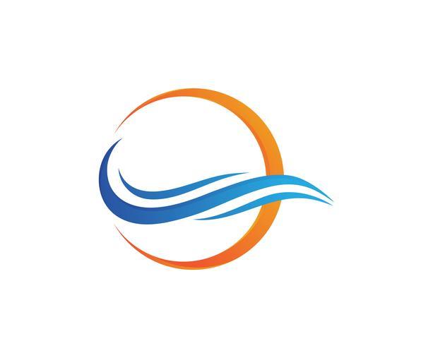 Símbolos de la ola de agua y los iconos de plantillas de logotipo icono