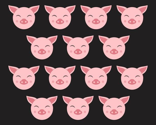 Pig head logo animal vector
