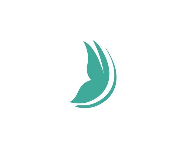 Farfalla concettuale semplice logo colorato