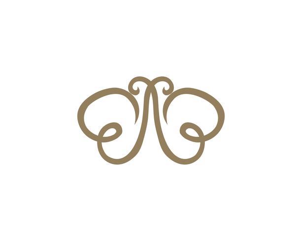 Mariposa conceptual simple colorido logo vector