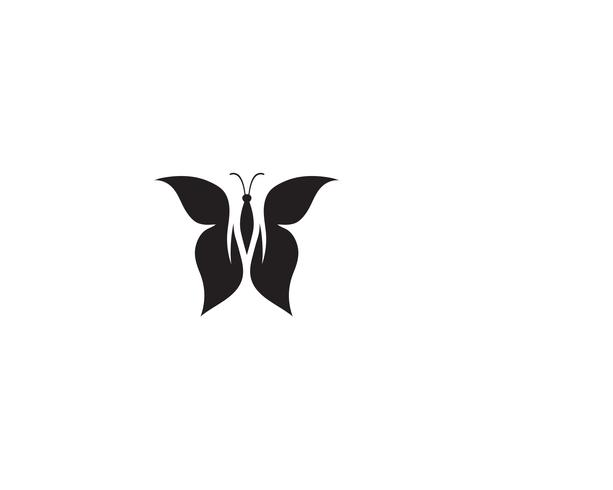 Papillon conceptuel simple logo coloré