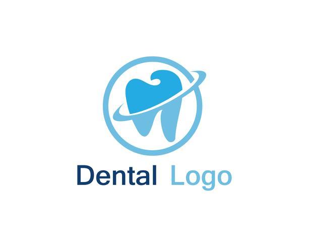 Logotipo y símbolo de atención dental. vector
