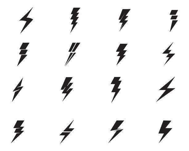 Vettore istantaneo dell'illustrazione dell'icona di vettore del modello di colpo di fulmine