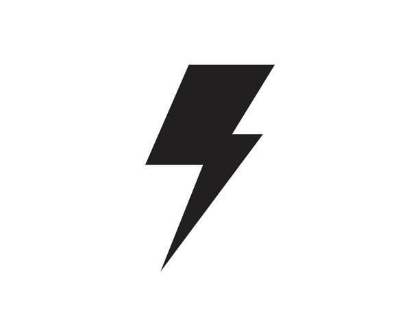 Flash thunderbolt Mall vektor ikon illustration vektor