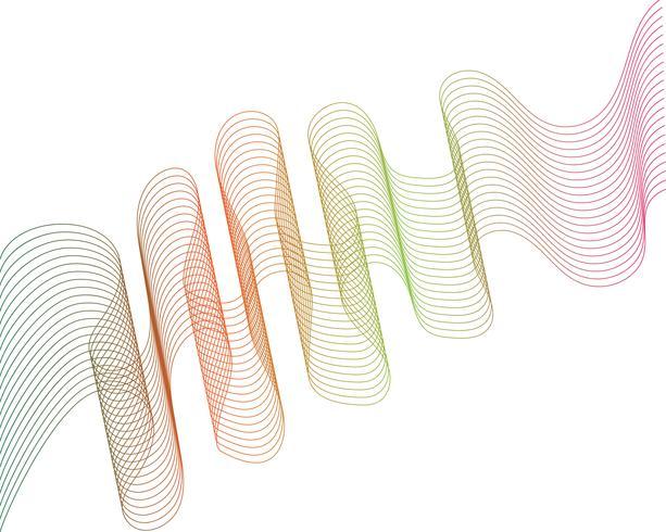 våg linje grafisk illustration vektor