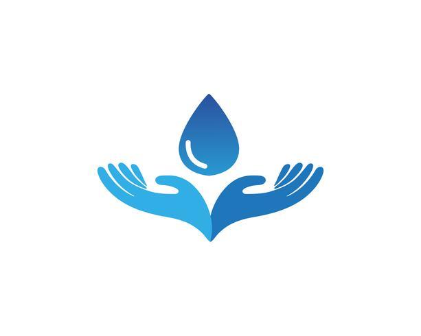 Plantilla de logotipo y símbolos para el cuidado de las manos.