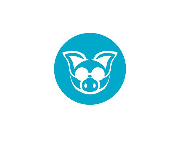 Tête de cochon logo animal