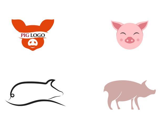 Maiale logo animale