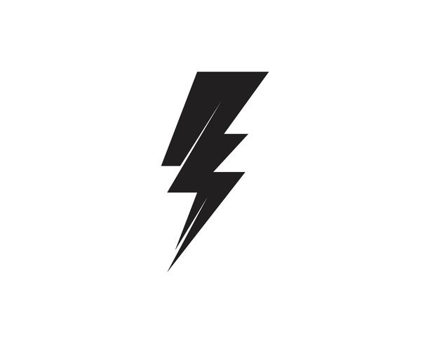 Flash thunderbolt Template vector icon illustration vector