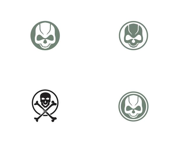 Schädelkopf-Logo und Symbolvektoren