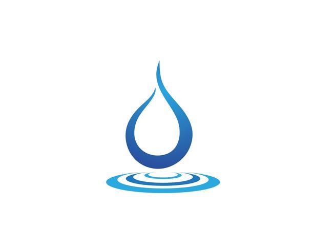 Diseño del ejemplo del vector de la plantilla del logotipo del descenso del agua