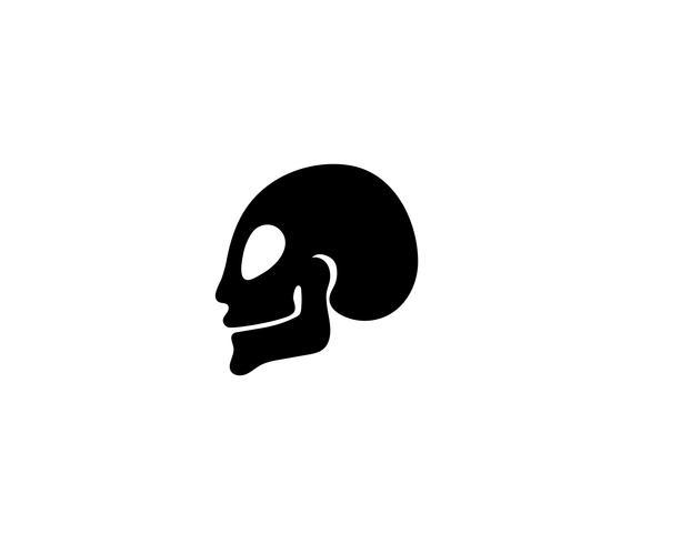 Cráneo cabeza de vectores y símbolos de vectores