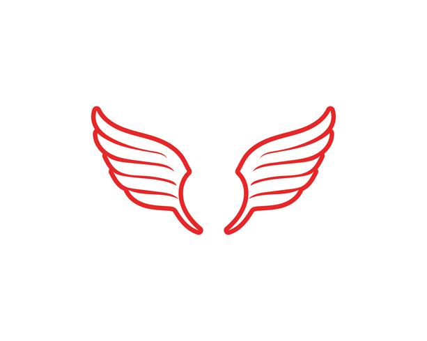 Falcon Wing Logo Mall vektorikonen vektor