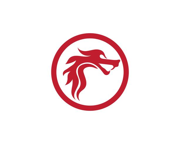 Dragon logo icono vector