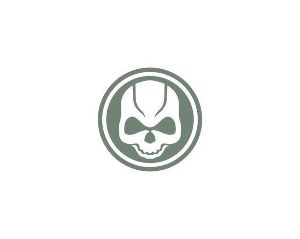 Vetores de logotipo e símbolo de cabeça de caveira