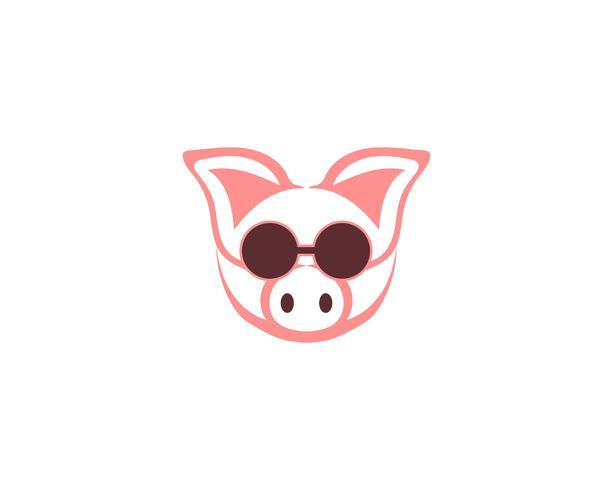 Varken hoofd logo dier