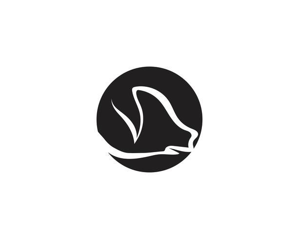 Gris huvudet logo djur