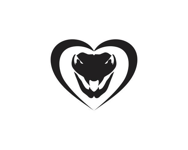 Diseño del ejemplo del vector del icono de la serpiente