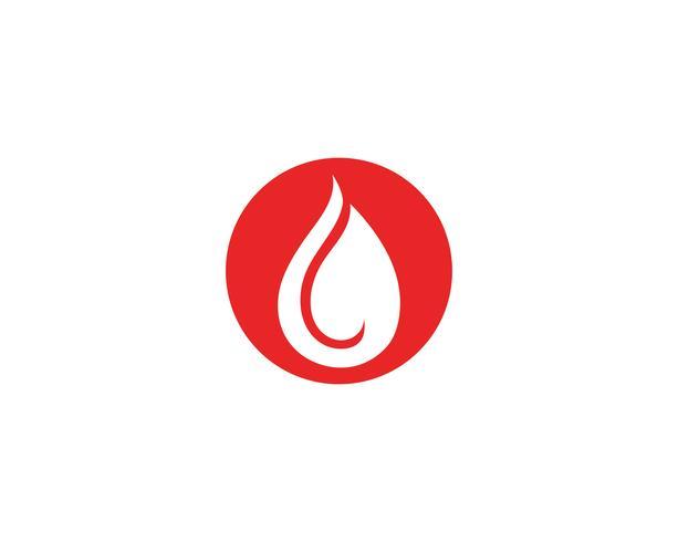 Logo d'icône de vecteur de sang