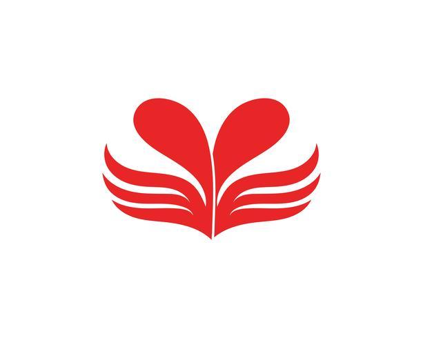 Kärlekvinge Logo och symboler Vektormall