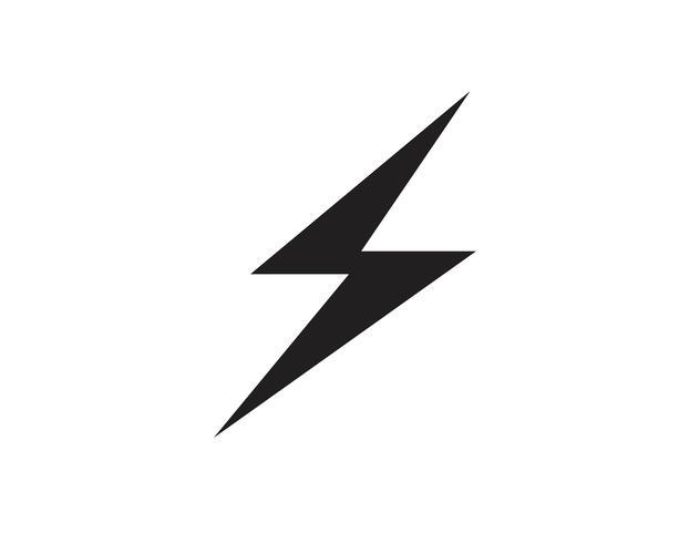 Flash bliksemschicht Template vector pictogram illustratie vector