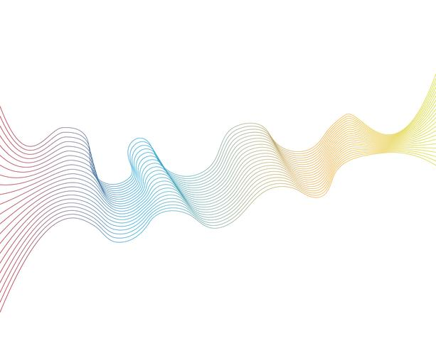 wave line graphic illustration vector