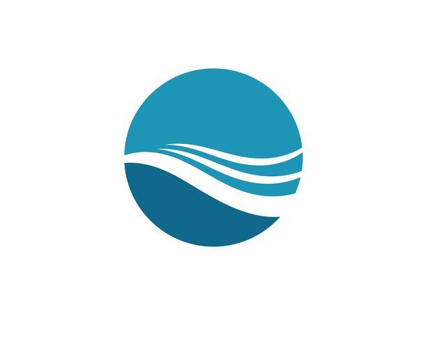 Wasserwellensymbol und -ikone Logo Template-Vektoren