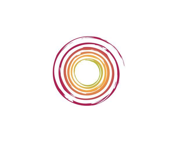 logotipo do círculo e símbolos Vetores