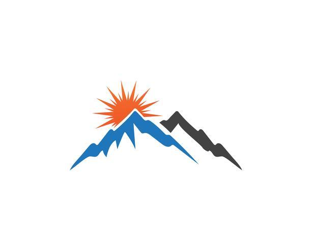 Plantilla de negocio de logotipo de montaña vector