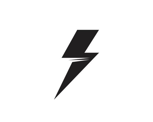 Flash trueno plantilla vector icono ilustración vectorial