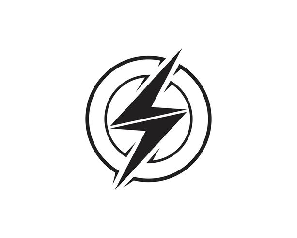 Flash thunderbolt Template vector icon illustration vector