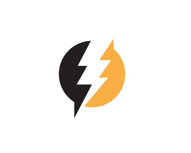 Flash-Blitz-Schablonenvektorikonen-Illustrationsdesign