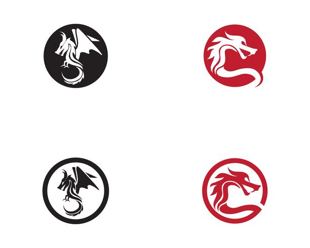 Dragon logo icon vector