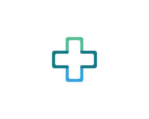 Krankenhauslogo und Symbolschablonen-Ikonenvektor