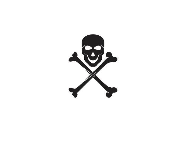 Logo testa di teschio e vettori simbolo