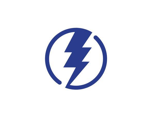 Projeto de ilustração de ícone de vetor de raio de luz de flash