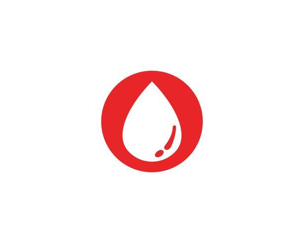 Logotipo de icono de vector de sangre