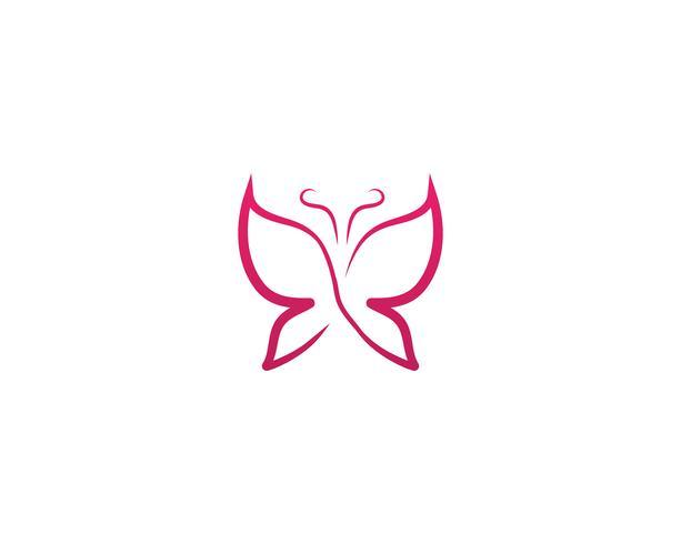 Butterfly konceptuell enkel färgstarka logotyp