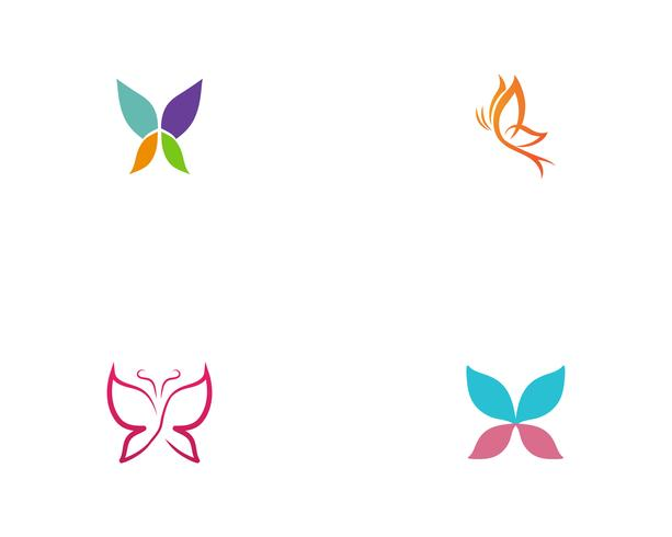Butterfly conceptual simple colorful  Logo vector