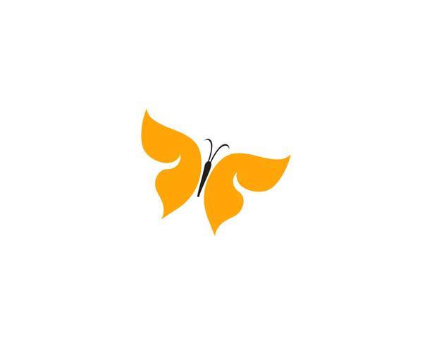 Schmetterlingsbegriffs einfaches buntes Logo